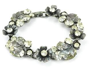 Vintage Costume Jewelry Signed Coro Paste Bracelet