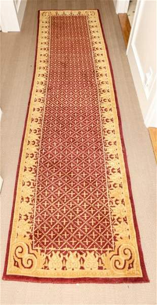 Hand Knotted Red & Gold Bokhara Style Runner