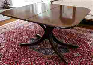 Antique Regency Carved Mahogany Dining Table