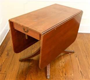 Antique Regency Mahogany Drop Leaf Table