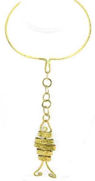 Vintage Mid Century Brutalist Handmade Necklace