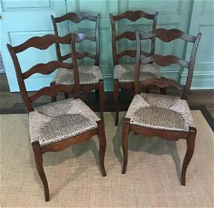 Smith & Watson Set of Four Ladder Back Chairs