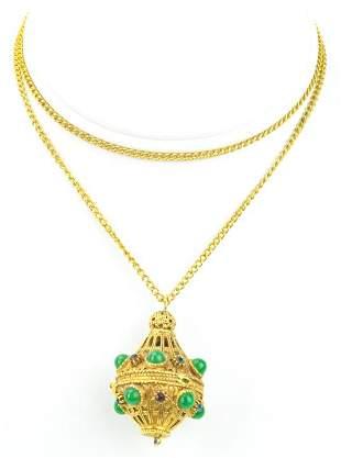 Vintage Costume Jewelry Etruscan Revival Locket