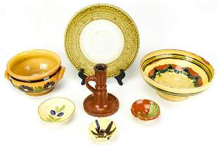 Collection Signed Ceramic Salt Glazed Table Items