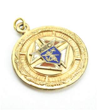 Antique Knights of Columbus Fraternal Pendant