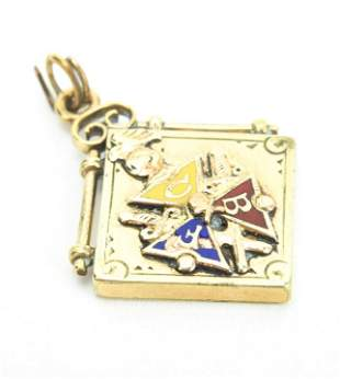 Antique 19th C Knights of Pythias Necklace Pendant