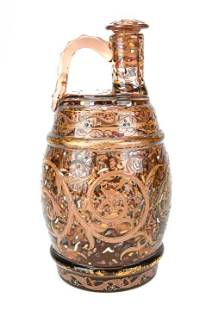 Emile Galle Persian Enameled Glass Decanter