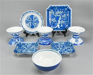 Collection Chinese Blue & White Bowls & Plates