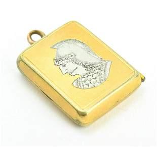 Antique 19th C Greco Roman Style Locket Pendant