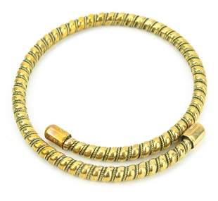 Antique 19th C Etruscan Revival Coil Bracelet