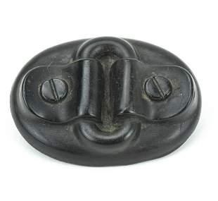 Antique 19th C Guttapercha Buckle Form Brooch