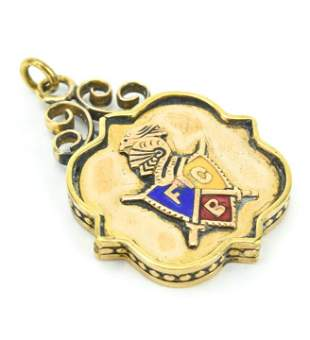 Antique 19th C The Knights of Pythias Gold Pendant