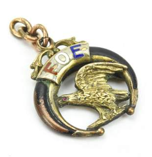 Antique 19th C Fraternal Order of Eagles Pendant