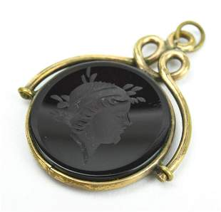 Antique 19th C Carnelian Intaglio Pendant or Charm