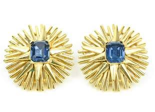 Vintage Crown Trifari Costume Jewelry Earrings