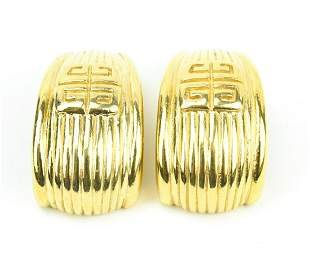 Vintage French Givenchy Costume Jewelry Earrings