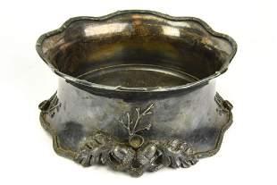 Antique 19th C Britannia Silver Plated Acorn Bowl