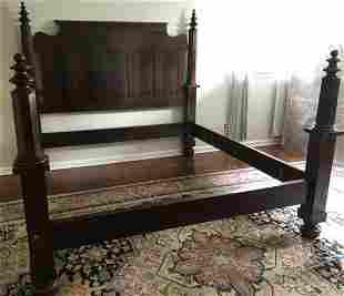 Leonard's New England Mahogany 4-Poster King Bed