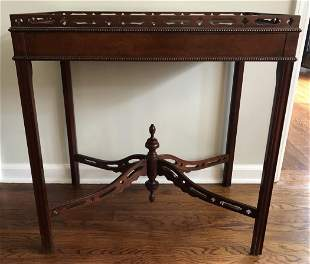 Baker Furniture Chinese Chippendale Side Table