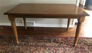 Lillian August Pine Dining Table w Turned Legs