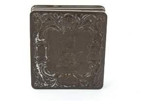 Antique 19th C Civil War Gutta Percha Union Case