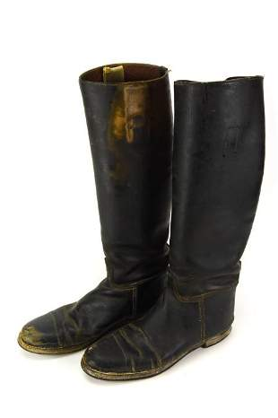 Antique / Vintage Leather Riding Equestrian Boots