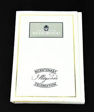Black & Gold Wedgwood Intaglio in Fitted Case