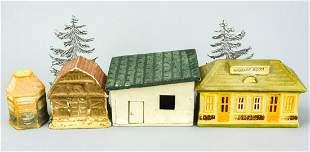 Antique Toy Train / Dollhouse Miniature Buildings