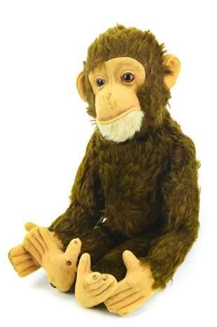 Vintage Jointed Mohair Steiff Mechanical Monkey