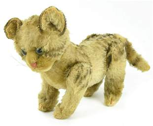 Vintage Jointed Mohair Steiff Cat Stuffed Animal