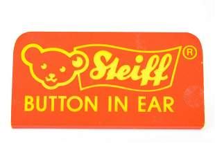 Vintage Steiff Button in Ear Store Display Sign