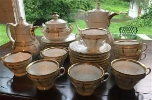 Antique 19th C Old Paris Porcelain Tea Coffee Set