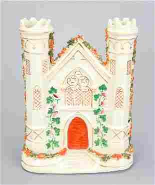 Antique 19th C English Staffordshire Castle Statue