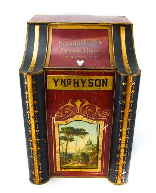 Large Antique 19th C Tobacco Advertising Store Tin