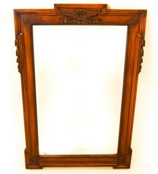 Victorian Style Wood Framed Wall Mirror