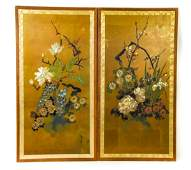 Vintage Gracie Style Hand Painted Wallpaper Panels