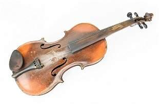 Antique Italian Cremonese Mahogany Violin 1798
