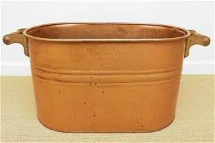 Vintage Revere Ware Copper Pot W Wooden Handles