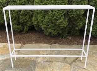 Modern White Iron Parsons Style Sofa Table