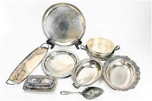 Grouping Of Silver Plate Serving Items