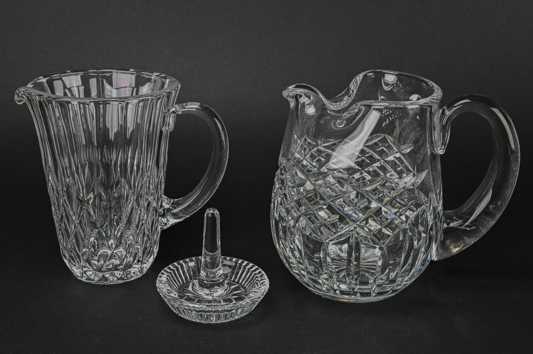 Waterford Crystal Pitchers / Jugs & Ring Holder