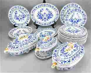 Royal Worcester Blue & White Dinner Service