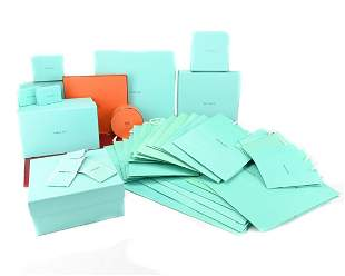 Lot Tiffany & Co. And Hermes Dust Bags Boxes