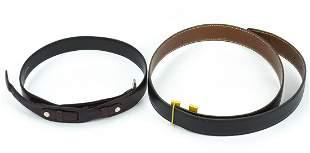 Vintage Gucci & Hermes Reversible H Belts