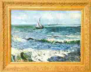 "Van Gogh Giclee ""The Sea at Les Saintes Maries"""
