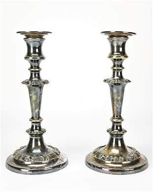 Pair Vintage Gorham Silver Plate Candelabras