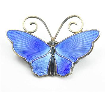 David Andersen Norway Sterling Butterfly Brooch