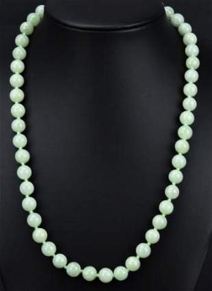 Estate 14kt Yellow Gold & Nephrite Jade Necklace
