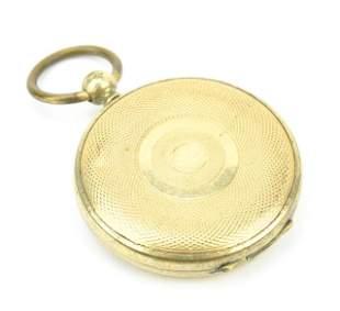 Antique 19th C Georgian Style Gold Locket Pendant