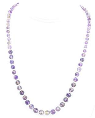 Antique Art Deco Faceted Amethyst Crystal Necklace
